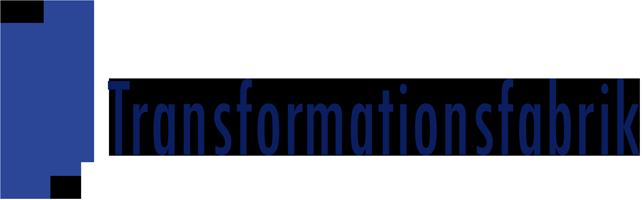 Logo Transformationsfabrik 200 w2 blaudunkelblau